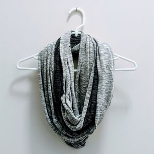 Two Tone T-shirt Style Infinity Scarf